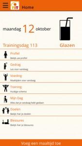 personal fitplan screenshot voorbeeld
